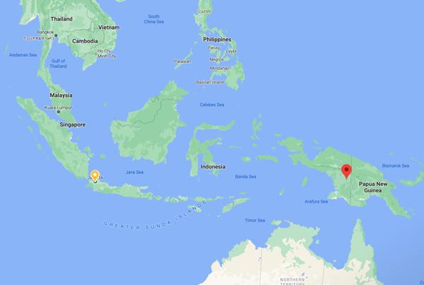 파푸아주 보벤디굴군과 머라우께군