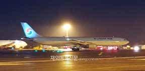지난 2월 12일 3차 우한전세기를 통해 우한교민 147명이 김포공항에 도착했다. (사진 행정안전부)