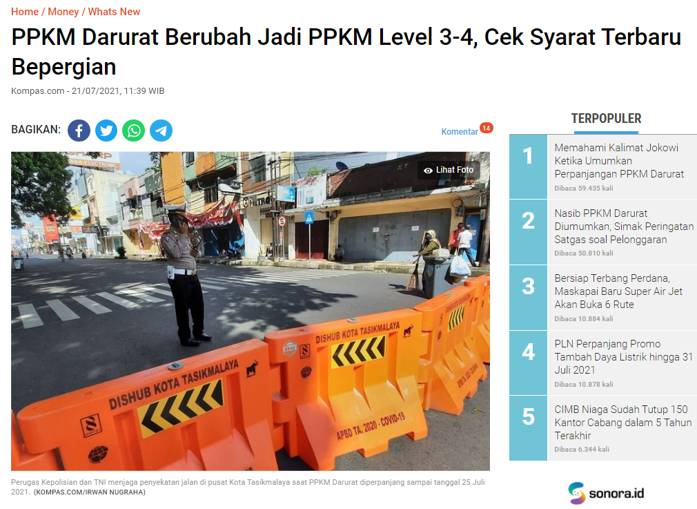 PPKM LEVEL 3.4